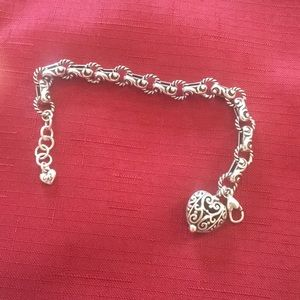 Brighton's Bibi heart collection silver bracelet